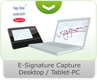 xyzmo e-Sign Capture Desktop-Tablet-PC