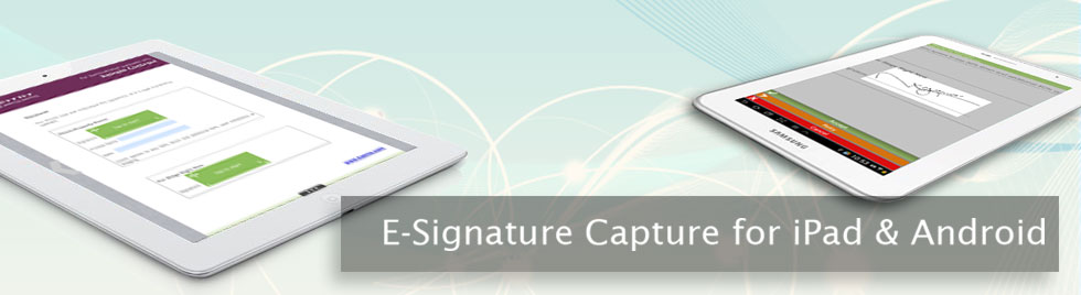 e-signature capture for iPad and android