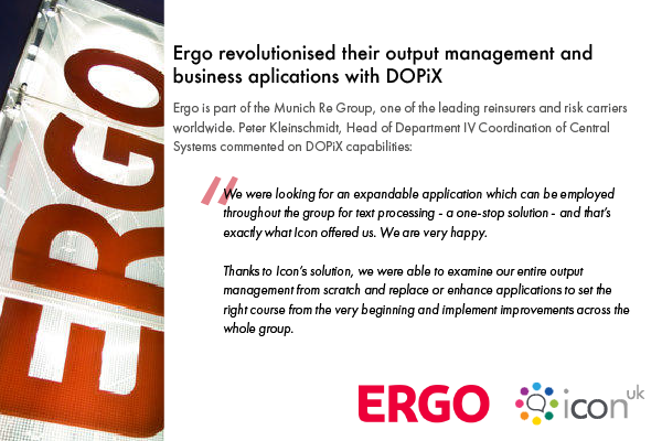 DOPiX Helped Ergo Revolutionise their Output Management and Business Applications