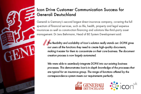 Icon Uk Drive Customer Communications Success for Generali Deutschland
