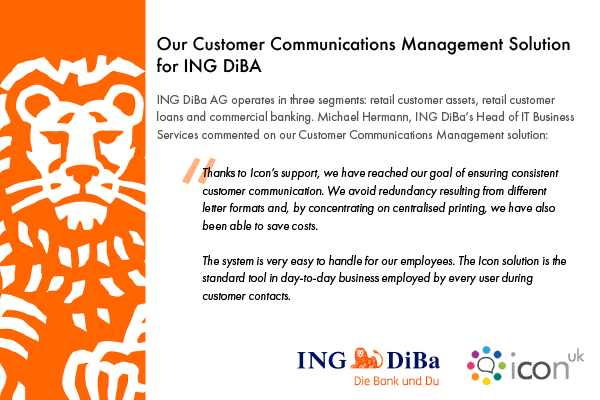 DOPiX is our Customer Communications Management Solution for ING DiBa