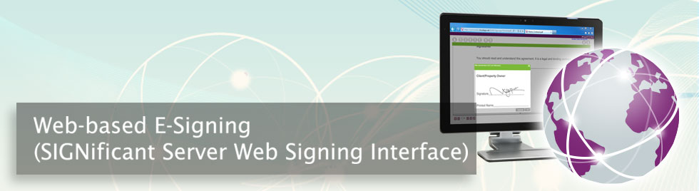 web based e-signing